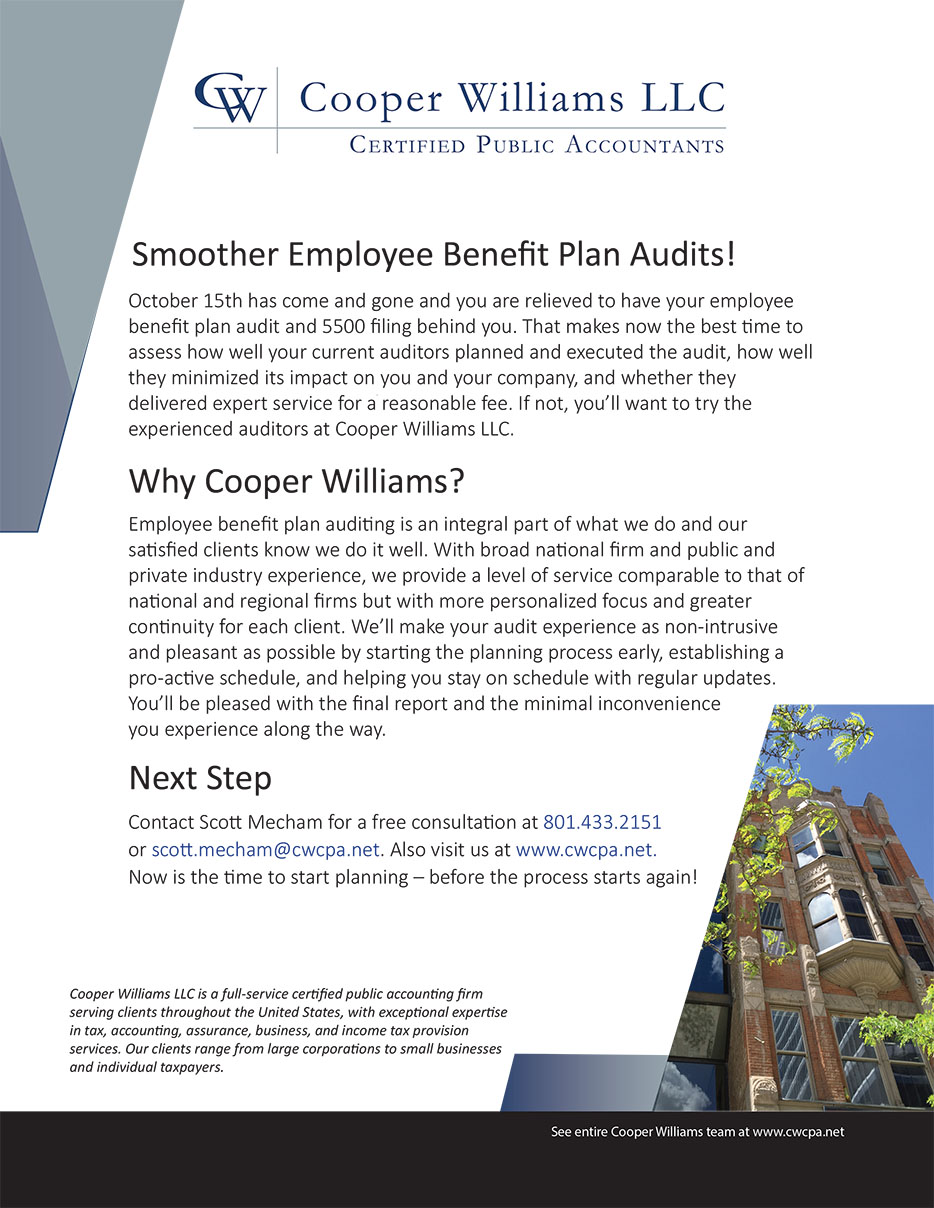 Salt Lake City, UT Accounting Firm | Brochure Page | Cooper ...